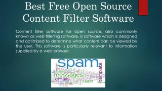 Best free Open Source Content Filter software
