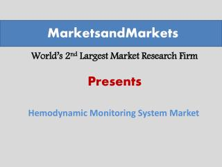 Hemodynamic Monitoring Systems Market worth $1,107.4 Million by 2019