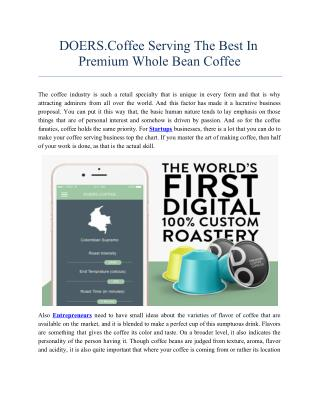 DOERS.Coffee Serving The Best In Premium Whole Bean Coffee