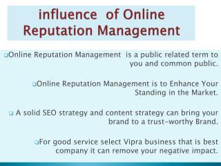 Online Reputation Management services india advantage
