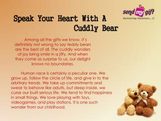 Teddy Bear Online: Speak Your Heart With A Cuddly Bear