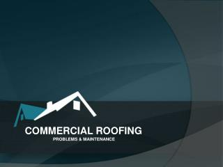 Commercial Roofing – Problems and Maintenance