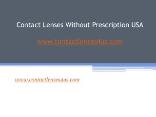 Buy Contact Without Prescription - Contactlenses4us