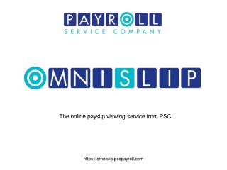 The online payslip viewing service from PSC