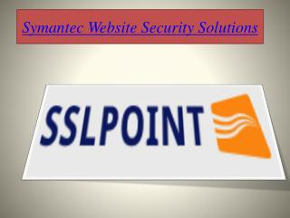 Symantec Website Security Solutions