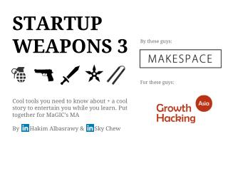 Startup Weapons for Newbie Entrepreneurs