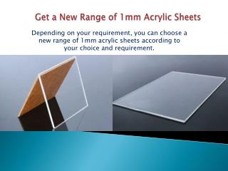 Get a New Range of 1mm Acrylic Sheets