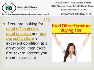Used Office Chairs And Used Cubicles Buying Tips