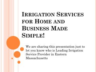 Residential Irrigation| Residential sprinkler system