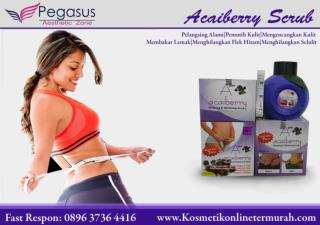 Acaiberry Slimming and Whitening Scrub|Acaiberry Pelangsing |Acaibery Scrub 0896.3736.4418
