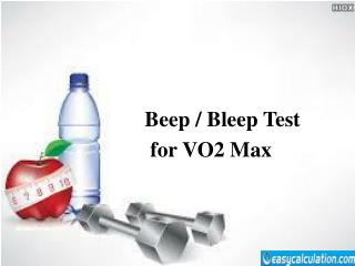 Beep Test for Vo2 Max Calculation