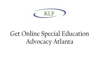 Get Online Special Education Advocacy Atlanta