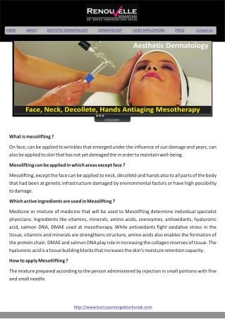 Face, Neck, Decollete, Hands Antiaging Mesotherapy