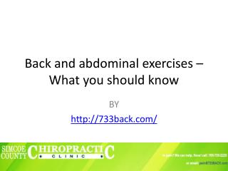 Causes and Symptoms of lower back pain
