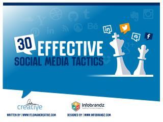 30 Effective Social Media Tactics