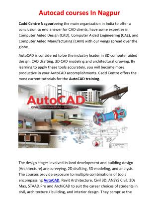 Autocad Courses In Nagpur