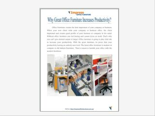 Why great office furniture increases productivity