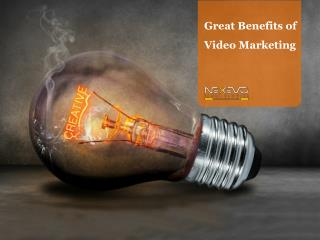 Great Benefits of Video Marketing