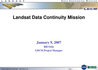 Landsat Data Continuity Mission