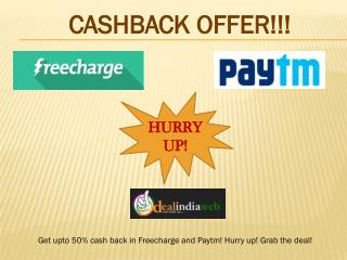 Cashback Offer In Dealindiaweb !!!