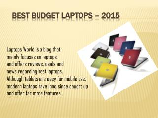 Best Budget Laptops 2015