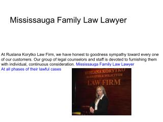 Mississauga Family Law Lawyer