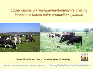 Observations on management-intensive grazing in pasture-based dairy production systems