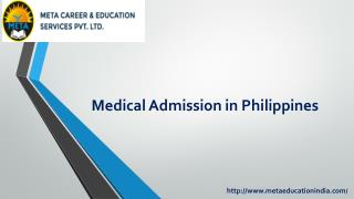Medical Admission in Philippines