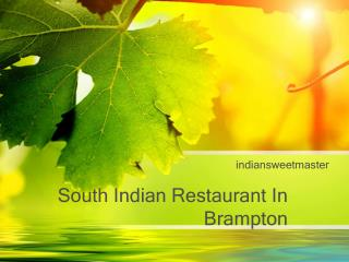 South Indian Restaurant Mississauga