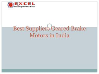 Geared Brake Motors India