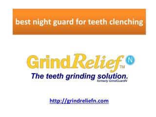 prevents teeth clenching