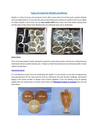 Types of Crystal for Wealth and Money