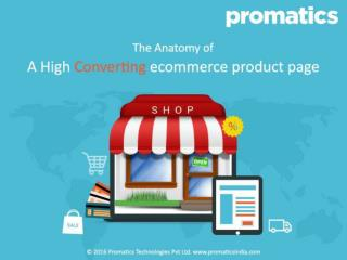 A high converting ecommerce product page