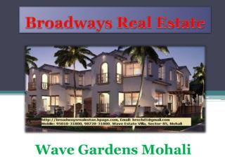 Wave Gardens Mohali, Wave Apartments Mohali, Wave 3bhk Flats Sector 85 Mohali