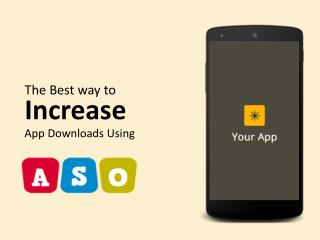 Best Way To Increase Download Using ASO