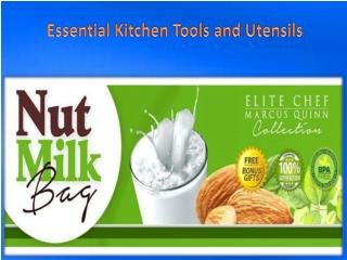 Essential Kitchen Tools and Utensils