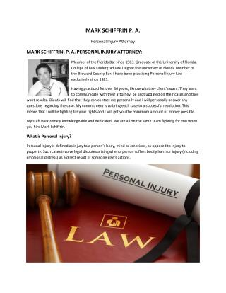 Personal Injury Law Firm South Florida