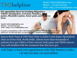 TMJ Treatment in India And TMJ Dentist in India
