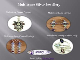 Buy Multistone Silver Jewellery Online UK