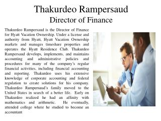 Thakurdeo Rampersaud Director of Finance