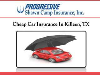 Cheap Car Insurance In Killeen, TX