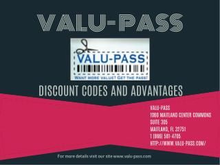 Valu-Pass: Discount Promo Code Advantages