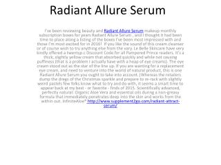 Radiant Allure Serum