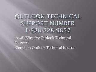 Outlook 1-888-828-9857 Technical Support Number