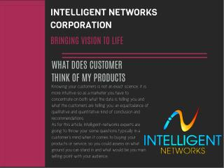 Questions to Address about Customer Thinking, Intelligent-networks.com