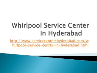 Whirlpool Service Center in Hyderabad | 040-24547649