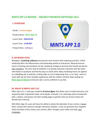 MINTS APP 2.0 REVIEW