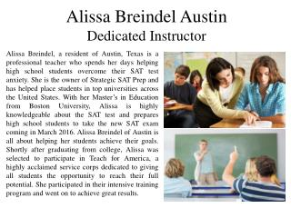 Alissa Breindel Austin - Dedicated Instructor
