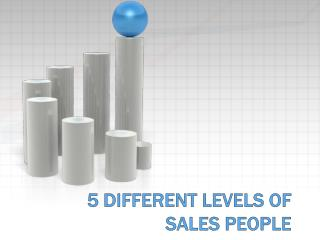 5 Different Levels of Sales People