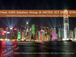 Innovative IT Solutions and Services at HKTDC ICT EXPO 2016 Hong Kong